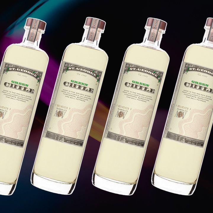 St. George Green Chile vodka bottle