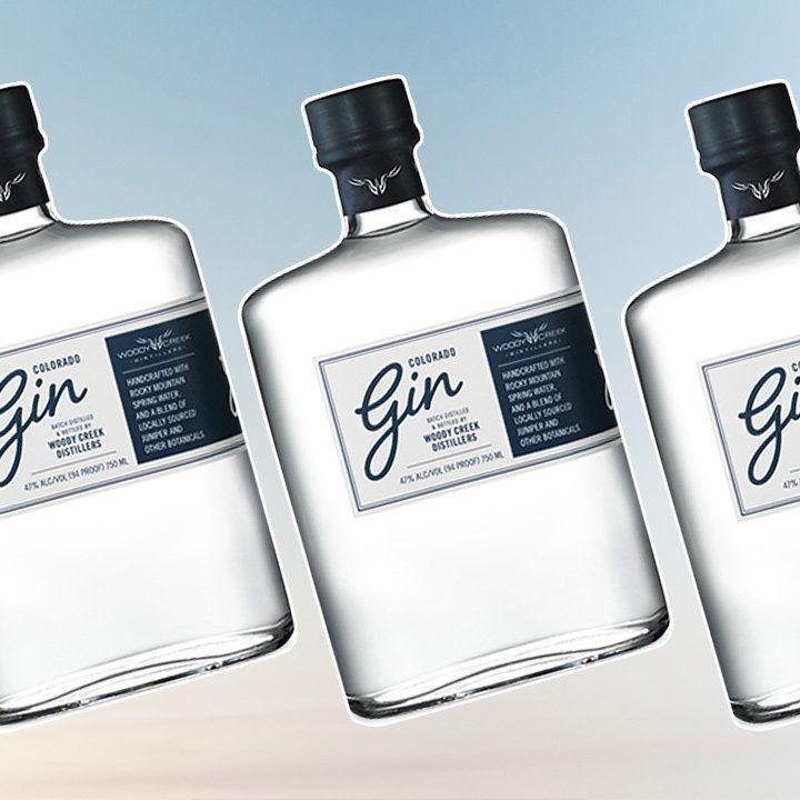 Woody Creek gin bottle