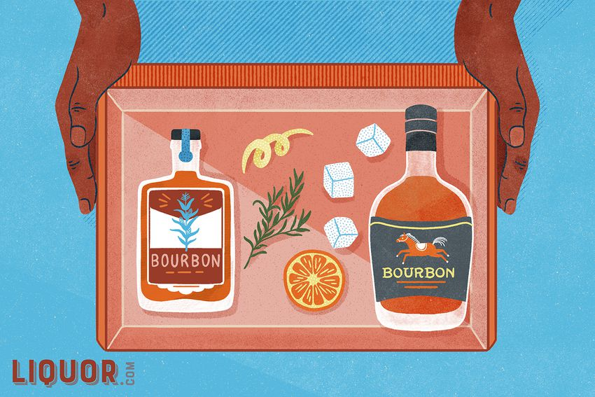 an illustration of a bourbon of the month club box