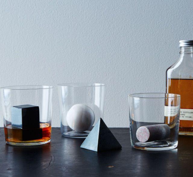 Geometric Whiskey Stones, Set of 4