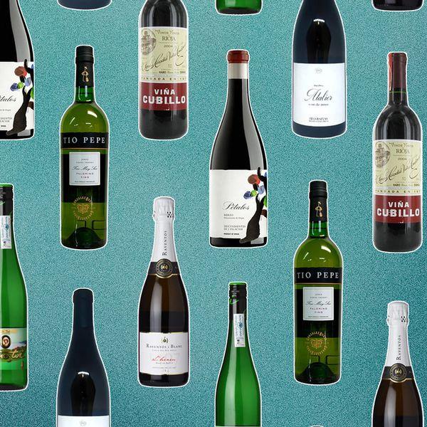 Spanish wine bottles